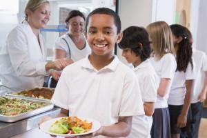 school dinner children