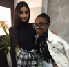 Barnet and Southgate College fashion students Ashika Patel (left) and Elia Buafoh
