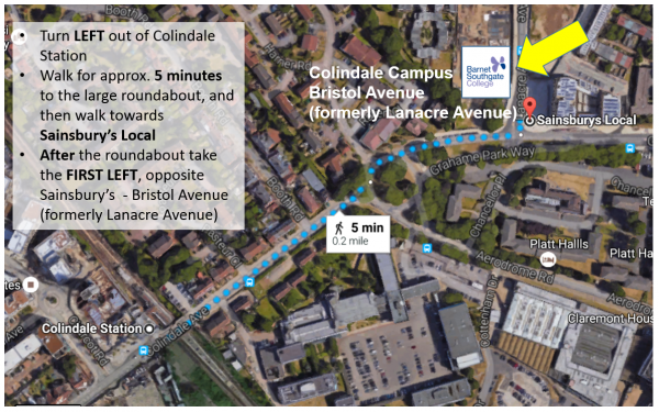 Colindale Campus directions