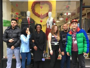 Business students help local charity shops