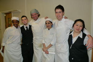 Catering students with top chef and restaurateur Marco Pierre White