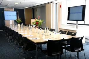 A meeting room at Hospitality House