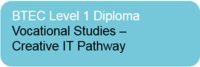 BTEC Level 1 Diploma in Vocational Studies – Creative IT Pathway
