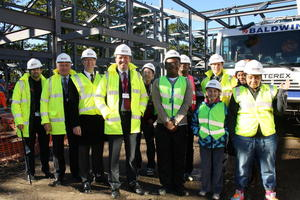 David Burrowes MP visits the LLDD construction site