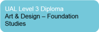 L3 Diploma in Art & Design – Foundation Studies