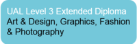 L3 Extended Diploma in Art & Design, Graphics, Fashion & Photography