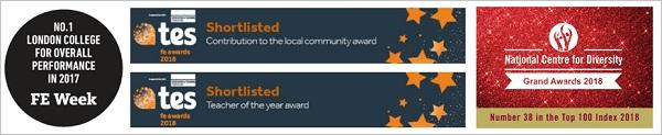 Nominations and awards for Barnet and Southgate College
